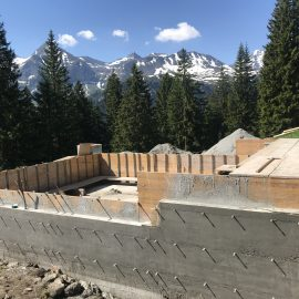 Neubau Hirtenhütte & Wasserversorgung, Unterlaui, Weisstannental