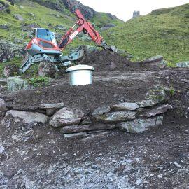 Umbau Hirtenhütte & Wasserversorgung, Obergalans