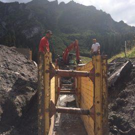 Sanierung Quellschachtanlagen und Leitungen, Gamidaur, Wangs